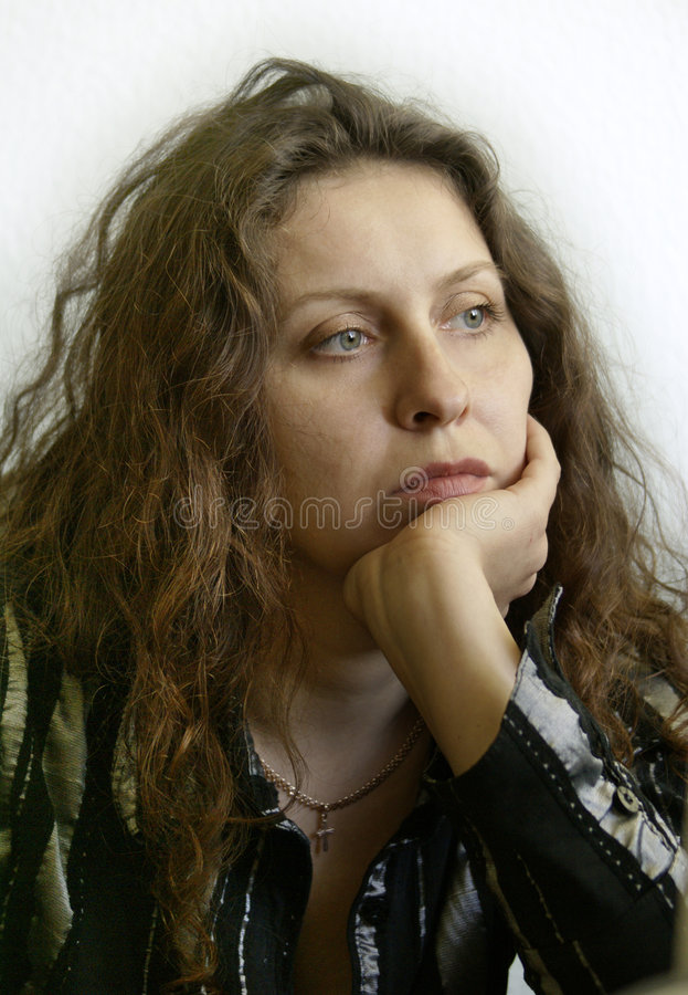 Melancholy young woman