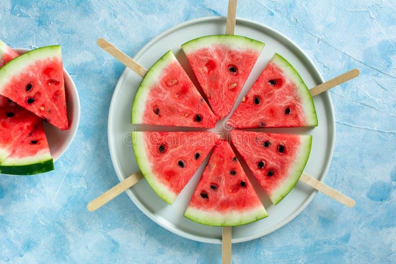 Melancia cortada do gelado do fruto foto de stock royalty free