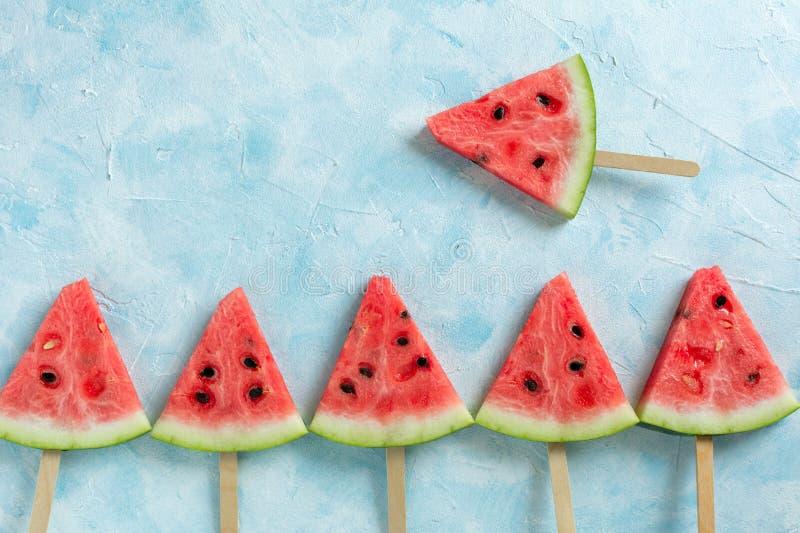Melancia cortada do gelado do fruto imagens de stock royalty free