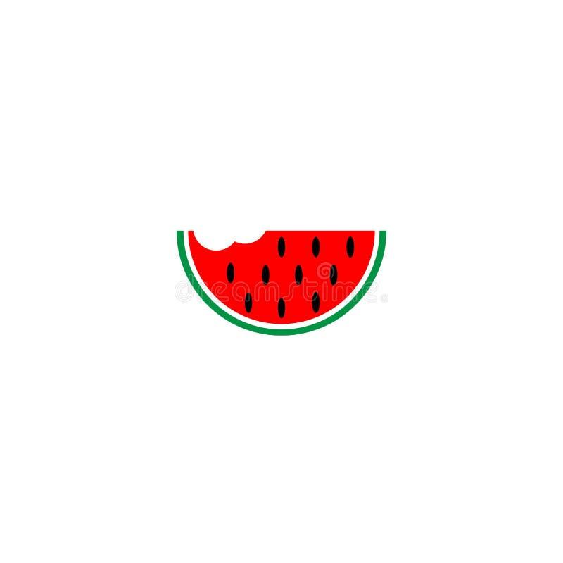 Melancia do vetor, ilustração do fruto da fatia da melancia, alimento saudável fresco - alimento natural orgânico isolado ilustração do vetor