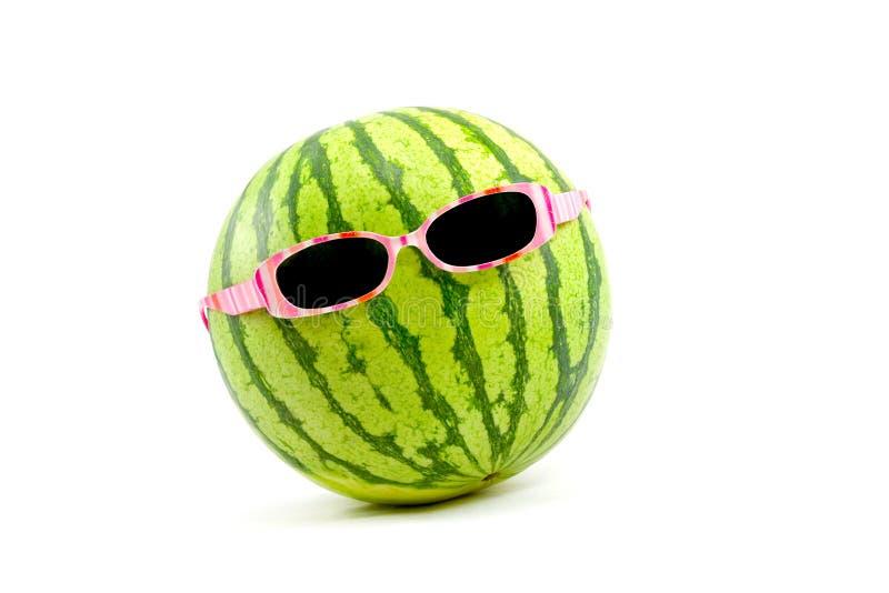Melancia nos óculos de sol imagens de stock royalty free