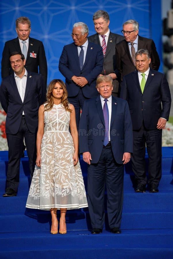 Melania-Trumpf und Donald Trump lizenzfreies stockfoto
