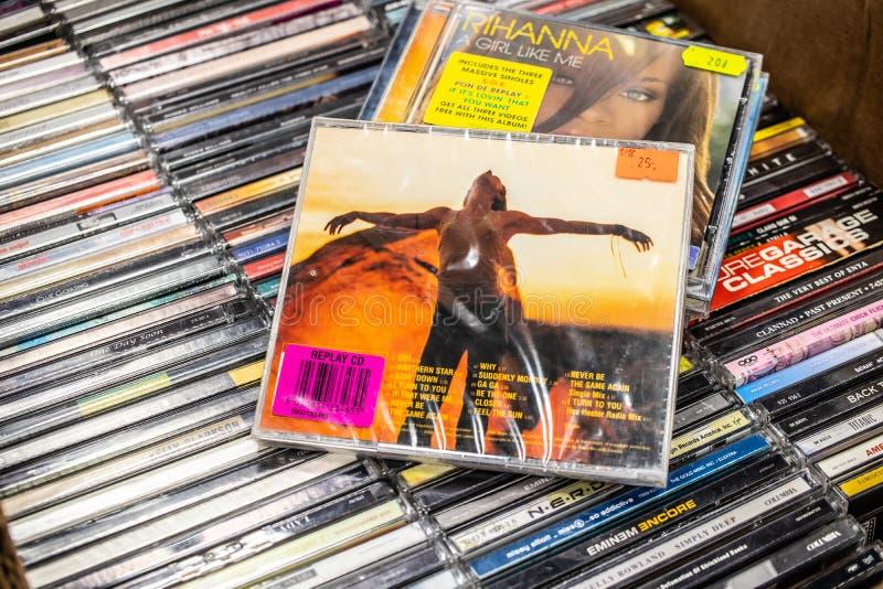 Melanie C of Mel C CD album Noordelijke Ster 1999 op vertoning voor verkoop, beroemde Engelse musicus en zanger, stock foto's