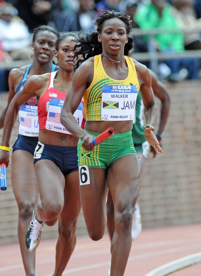 Melanie Walker - Jamaicaanse femal spooratleet stock afbeeldingen