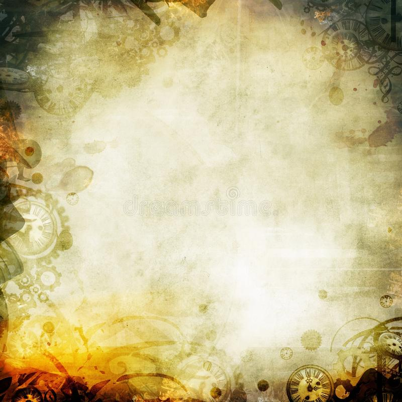 Melankolisk illustration för seipahöstbakgrund royaltyfria foton