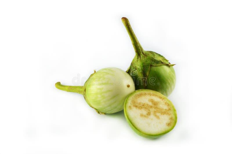 Melanzana verde fotografie stock