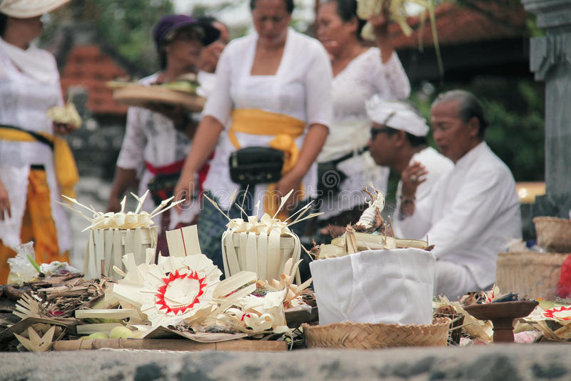 Melasti Bali images libres de droits