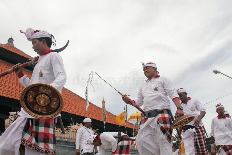 Melasti Bali stock foto's
