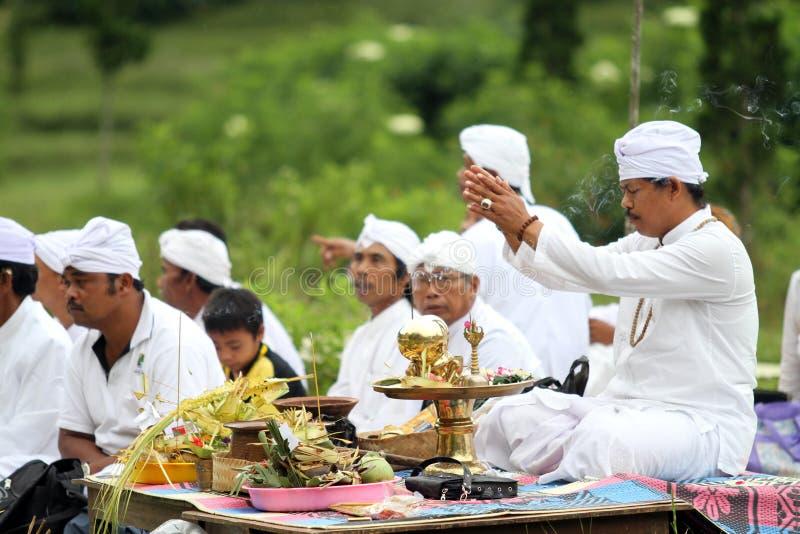 Melasti ceremoni royaltyfri foto