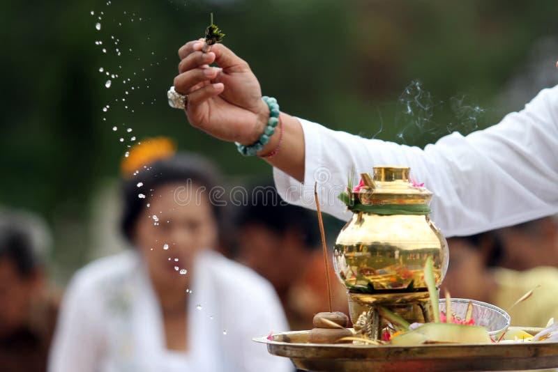 Melasti ceremoni royaltyfria foton