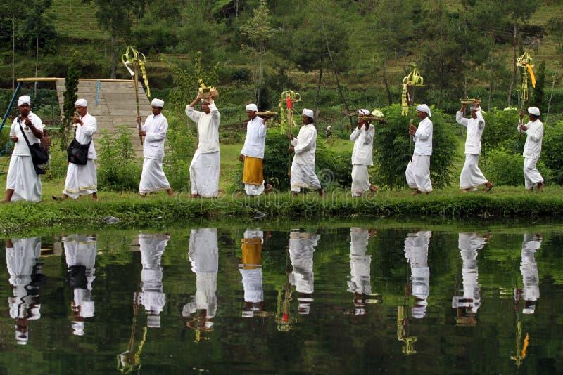 Melasti ceremoni royaltyfri fotografi