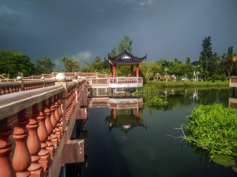Melati湖在加央,玻璃 免版税库存图片
