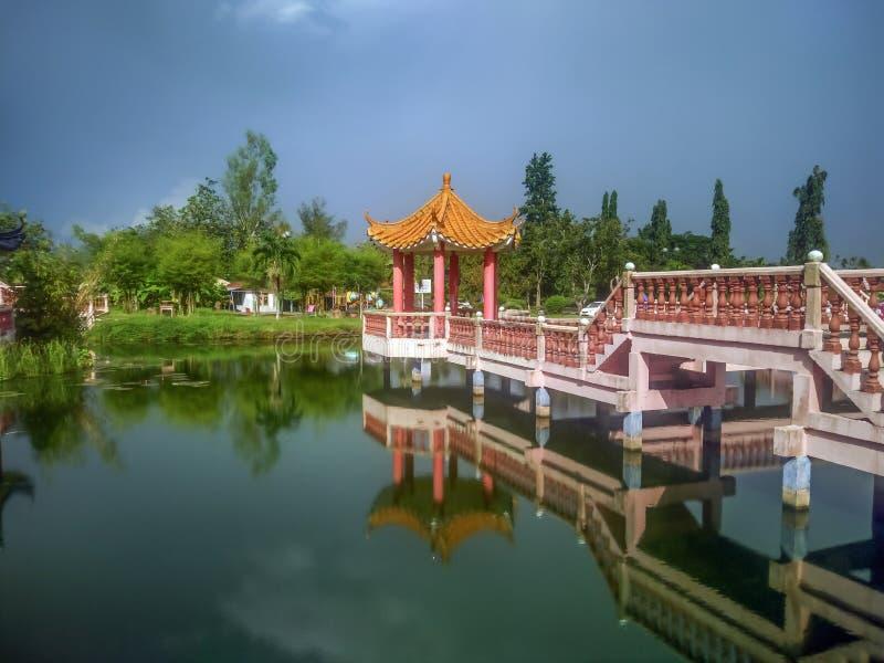 Melati湖在加央,玻璃 图库摄影
