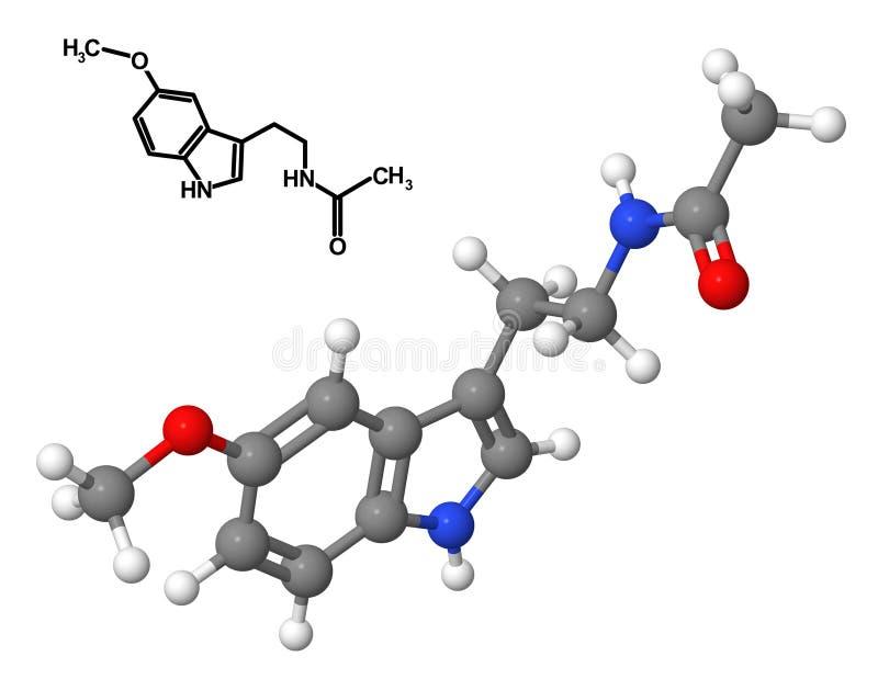 melatonin διανυσματική απεικόνιση