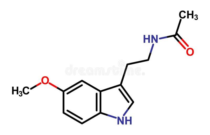 melatonin stock illustrationer