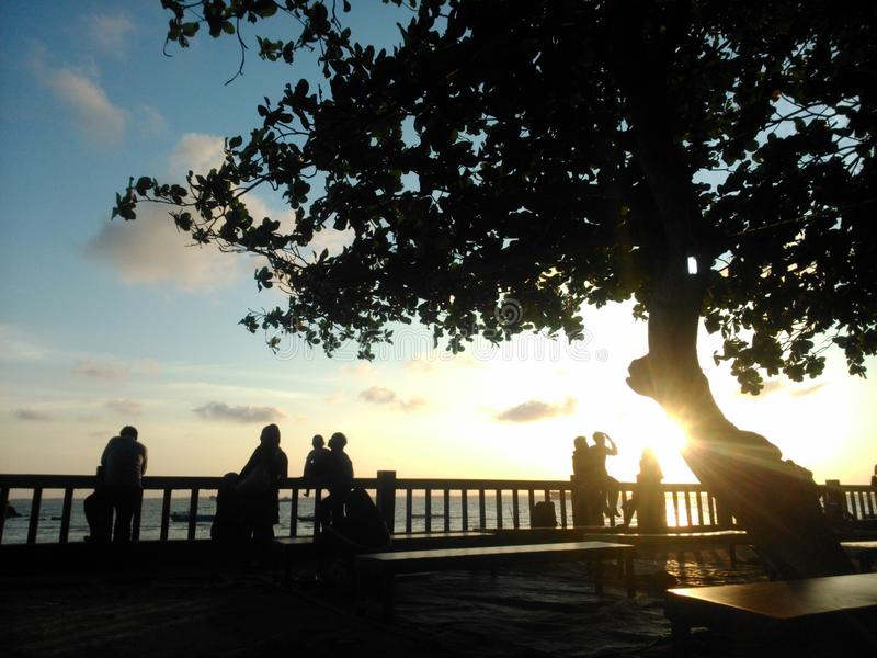 Melawai Balikpapan Indonezja familyplace plaża zdjęcie royalty free
