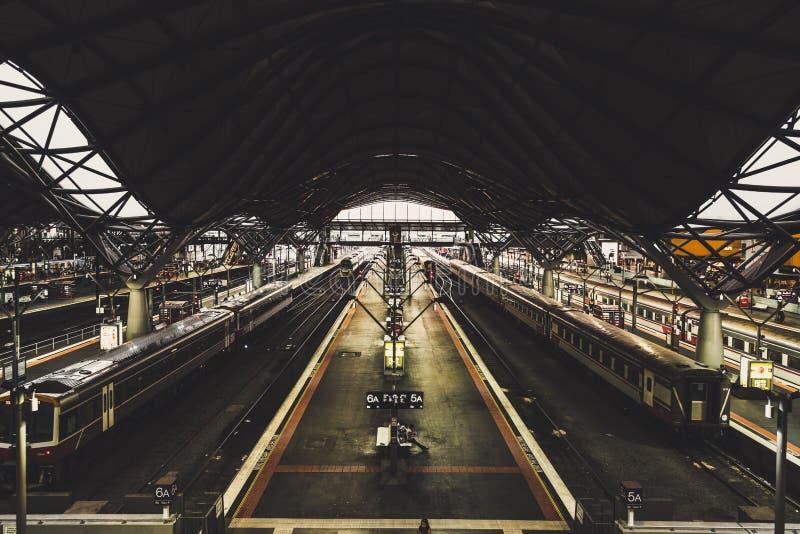 Melboune southen lo stasion trasversale del treno, austraila immagini stock