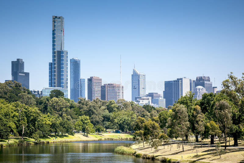 Melbourne. An image of the nice skyline of Melbourne royalty free stock image