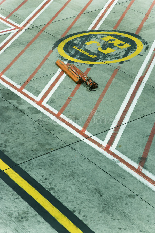 Melbourne Airport tarmac. Lines on runway concrete at Melbourne Airport, Australia stock photography
