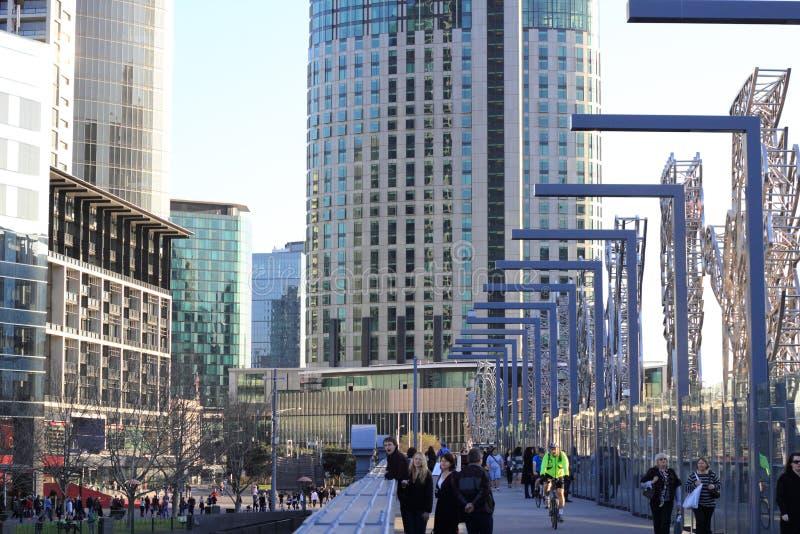 Melbourne-Ansicht zu Southbank lizenzfreie stockfotografie