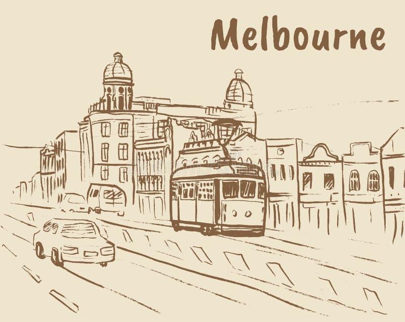 Melbourne Austrália ilustração do vetor