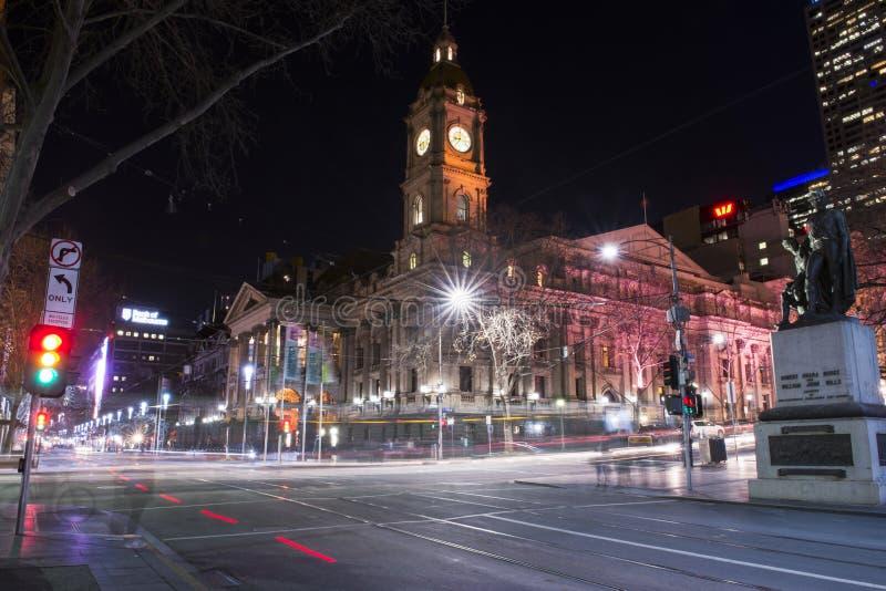 Melbourne, Austrália - 17 de agosto de 2016: Vista de uma cidade de Melbourne foto de stock