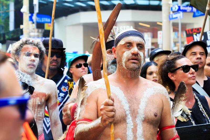 Download Invasion Day Australia Day Protests In Melbourne Editorial Photography - Image of house, public: 108771367