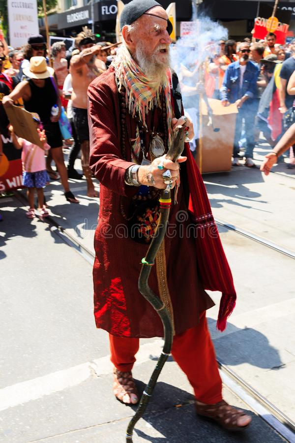 Download Invasion Day Australia Day Protests In Melbourne Editorial Photography - Image of australia, house: 108771562