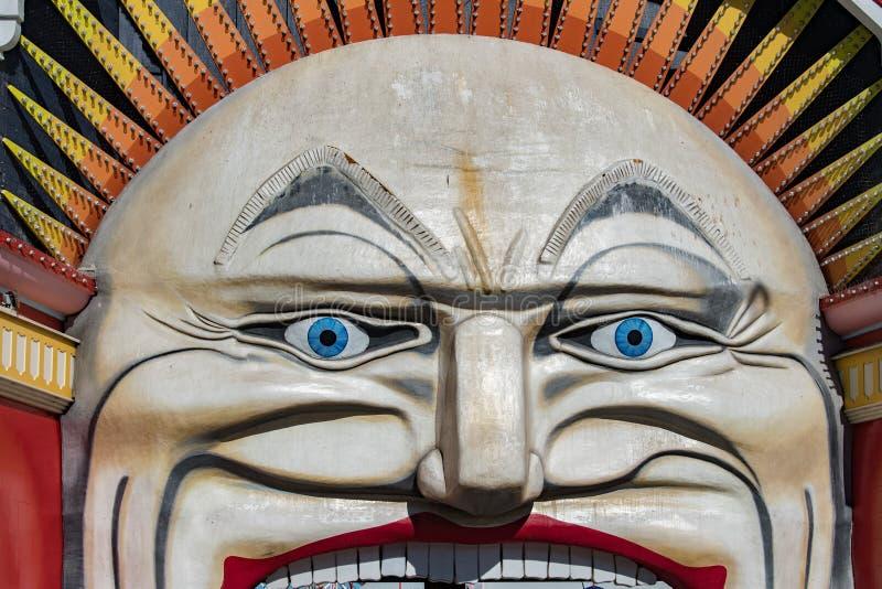 MELBOURNE, AUSTRALIA - 16 agosto 2017 - Melbourne Luna Park immagini stock libere da diritti