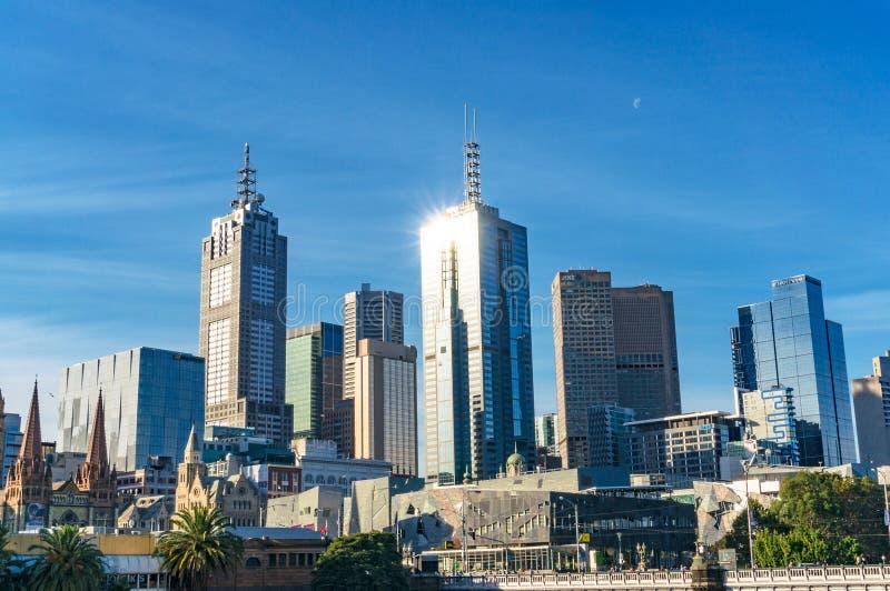 Melbourne CBD, Central Business District architecture. Melbourne, Australia - April 4, 2017: Melbourne CBD, Central Business District skyscrapers, landmarks and royalty free stock photos