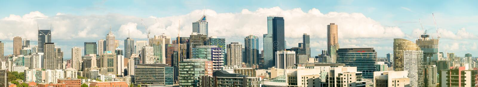 MELBOURNE, AUSTRALIA - Beautiful city hi-res panoramic view. Mel royalty free stock photography