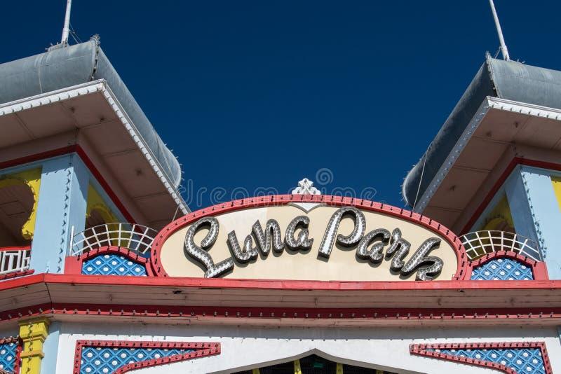 MELBOURNE, AUSTRALIA - 16 de agosto de 2017 - Melbourne Luna Park imagen de archivo libre de regalías