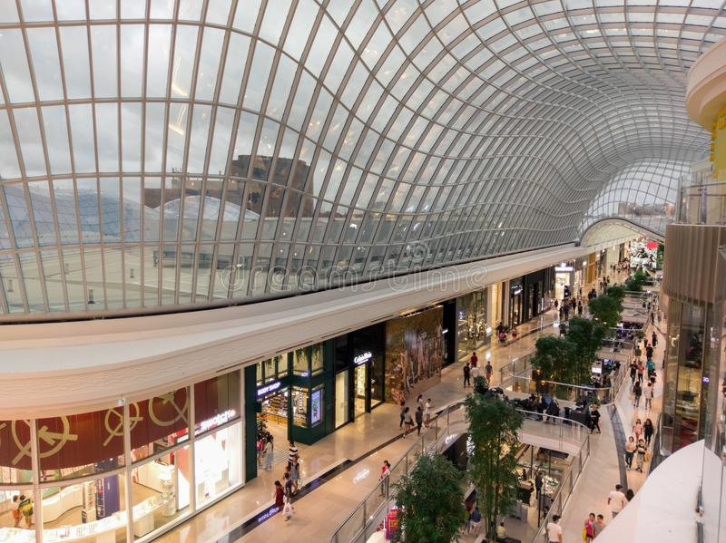 Atrium at Chadstone Shopping Centre in Melbourne, Australia. Melbourne, Australia - February 24, 2018: atrium at Chadstone Shopping Centre opened in October 2016 royalty free stock images