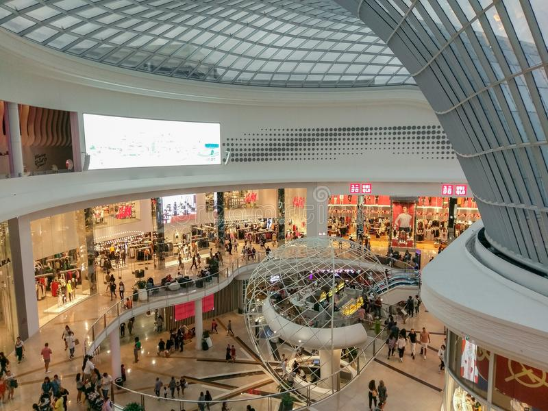 Atrium at Chadstone Shopping Centre in Melbourne, Australia. Melbourne, Australia - February 24, 2018: atrium at Chadstone Shopping Centre opened in October 2016 royalty free stock photography