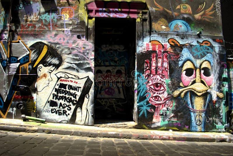 MELBOURNE , Australia, February 2019: Street art by unidentified artist stock photo