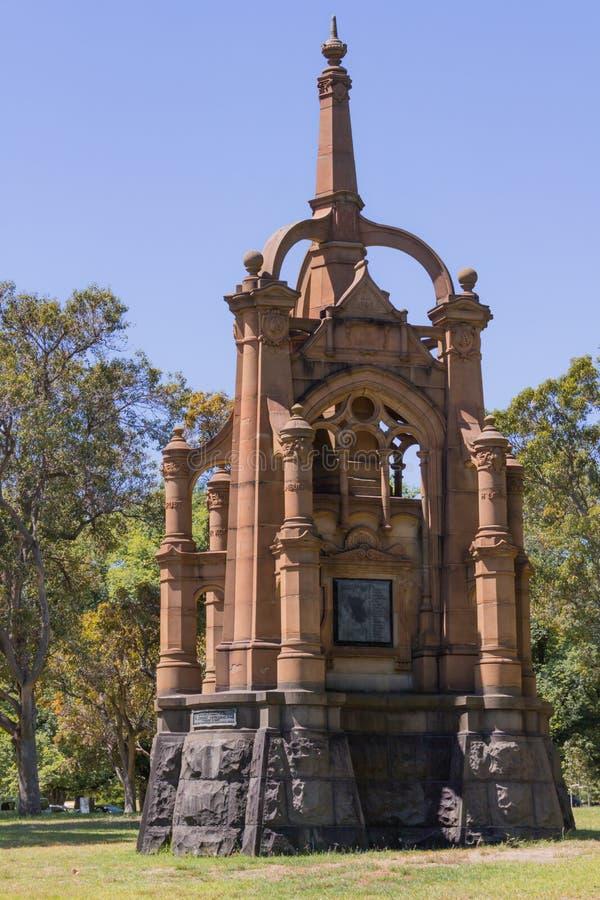Melbourne, Australia - il memoriale montato vittoriano dei fucili, commemora camerati del quinto contingente immagini stock libere da diritti