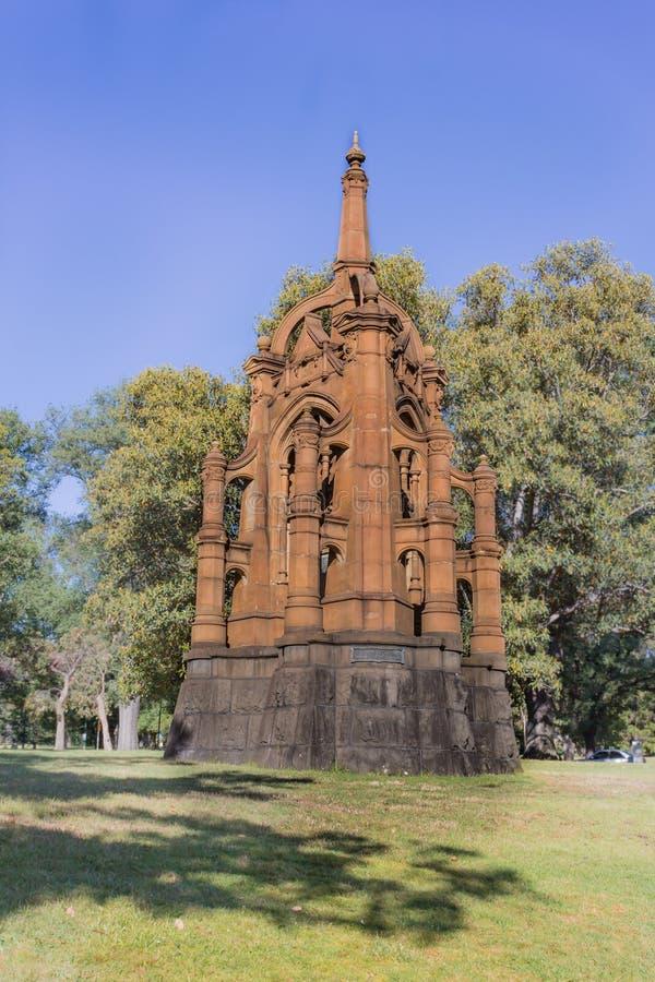 Melbourne, Australia - il memoriale montato vittoriano dei fucili, commemora camerati del quinto contingente fotografie stock