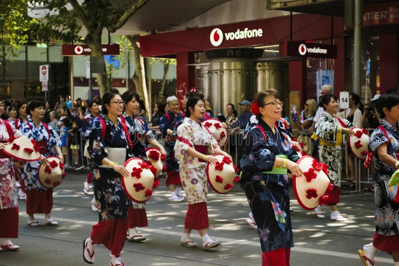 MELBOURNE, AUSTRALIA - JANUARY 26, 2019: different groups participate at the 2019 Australia Day Parade in Melbourne royalty free stock photography