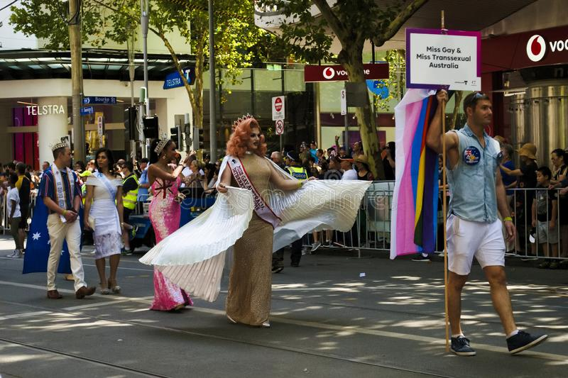 MELBOURNE, AUSTRALIA - JANUARY 26, 2019: different groups participate at the 2019 Australia Day Parade in Melbourne royalty free stock photo