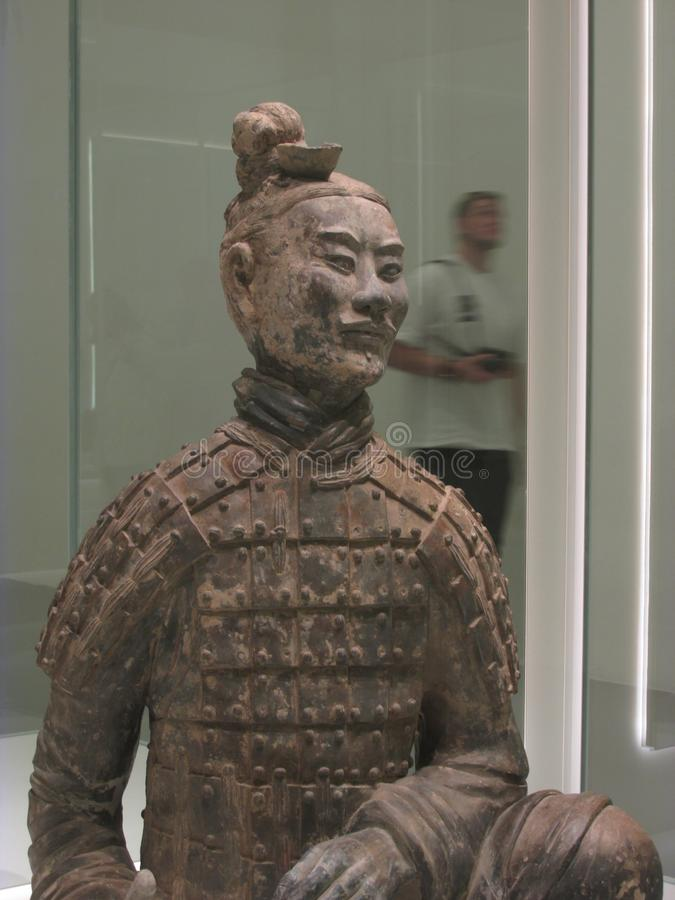 The kneeling archer of terracotta army stock photography