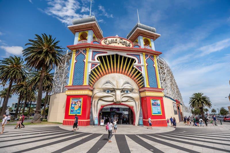 Luna Park amuzement park in Melbourne, Australia stock photography