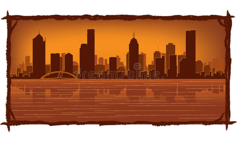 Melbourne Australia Skyline Stock Image