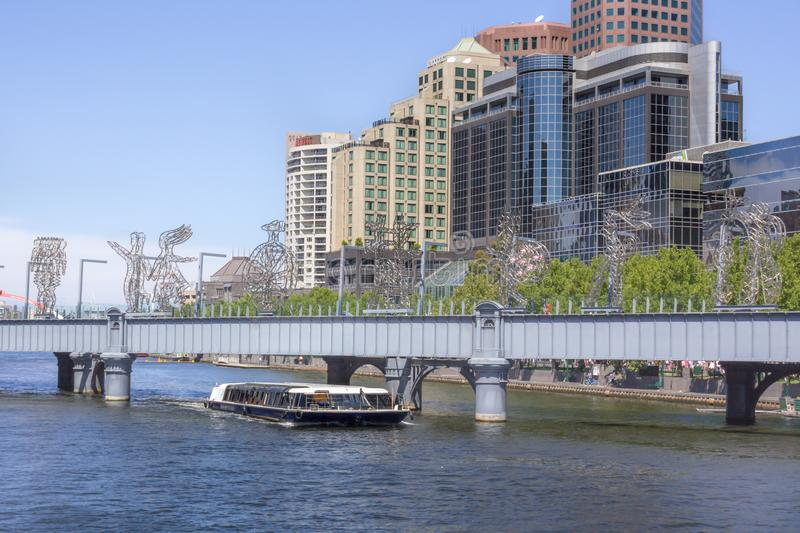 MELBOURNE, AUSTRALIA - street with small bridge in Melbourne royalty free stock image