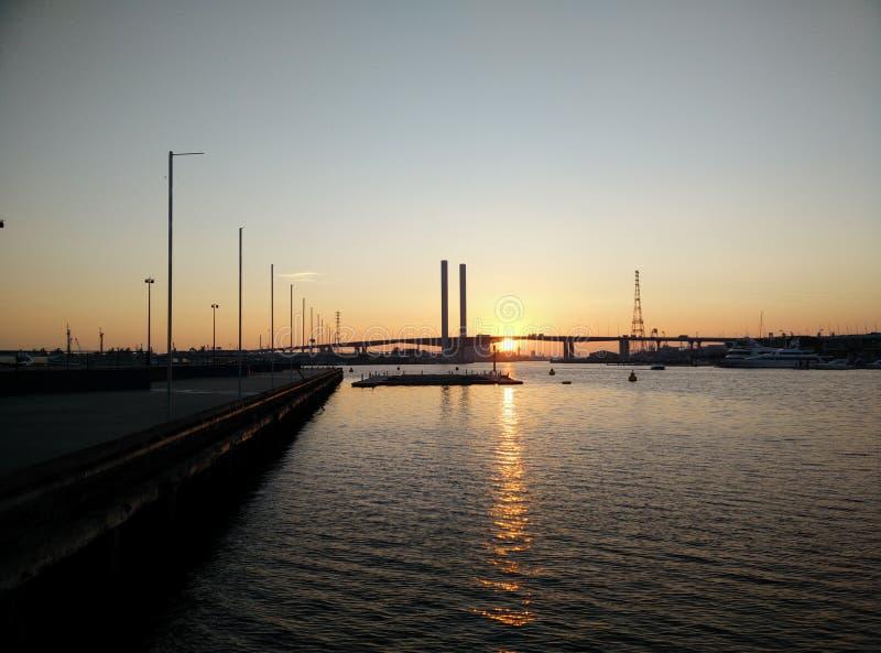 Melbourne bridge royalty free stock photography