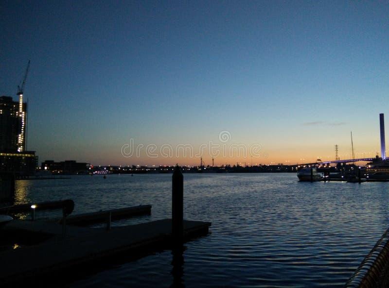 Melbourne bridge royalty free stock photos