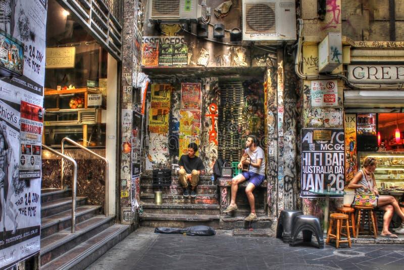 Melbourne buskers obraz stock