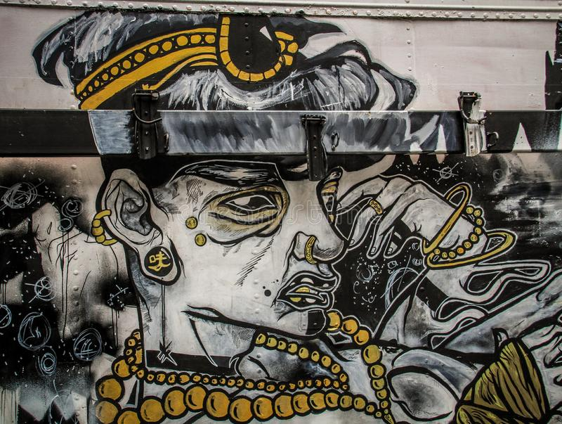 Inspirative Street art in Melbourne, Victoria, Australia. Melbourne, the capital of Victoria and the second largest city in Australia, has gained international royalty free stock photo