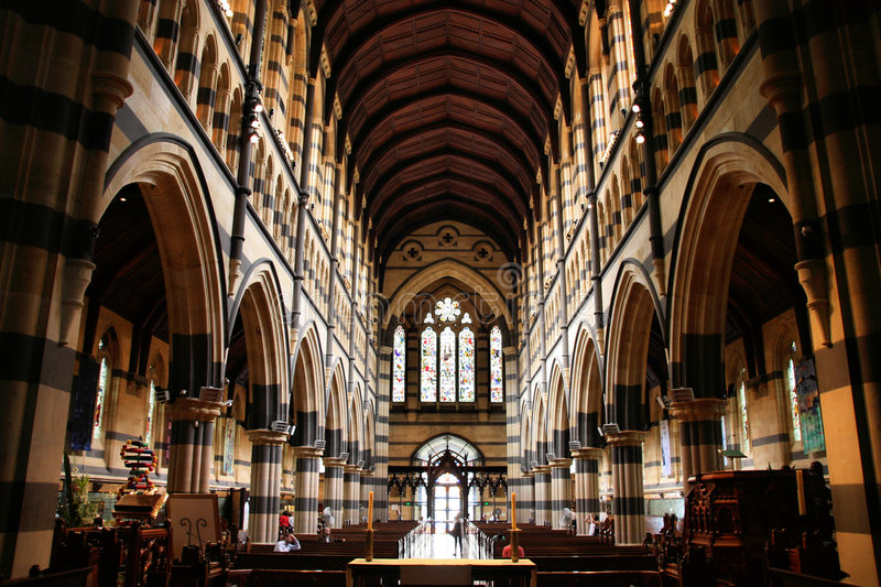 Melbourne Cathedral stock photo