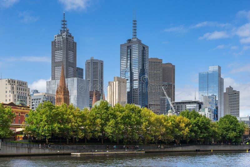 Download Melbourne CBD imagem de stock. Imagem de evan, victoria - 65580553