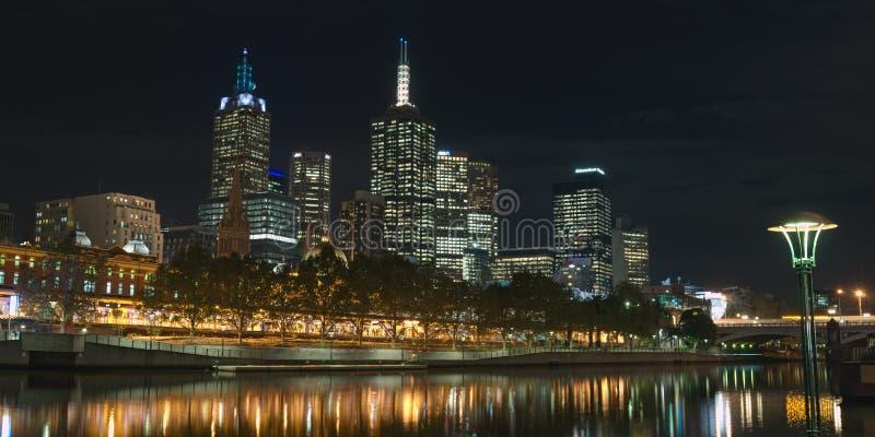 Melbourne CBD y Yarra foto de archivo libre de regalías